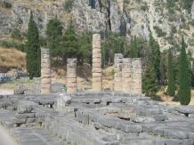 Sacred site of DELPHI- THE TEMPLE OF APOLLO.