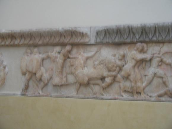 Frieze from the Temple Of Apollo at Delphi located in the site museum.
